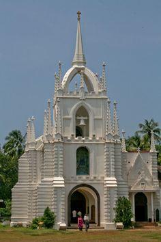 Mae De Deus Church, located at Saligaon  some 14 kms away from Panjim,
