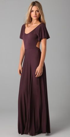 LOVE this for a bridesmaid...paired with some beige or tan booties for the winter