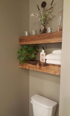 23 DIY Floating Shelves and Bathroom UpdateThese bathroom shelves are completely gorgeous and they're quite simple to create. There are lots of ways to construct wall shelves. You can also purc. Bathroom Spa, Small Bathroom, Bathroom Ideas, Master Bathroom, Bathroom Remodeling, Remodeling Ideas, Zen Bathroom Decor, Bathroom Beadboard, Lavender Bathroom