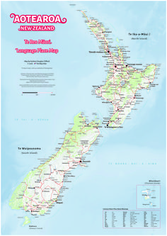 A map showing Te Reo Māori names of towns and cities across New Zealand. A fantastic resource for learning about places from a Te Reo perspective. Waitangi Day, Teachers Aide, Australia Map, Kiwiana, Learning Spaces, South Island, Study Tips, Integrity, Social Studies