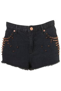 Studded High Waist Hotpants