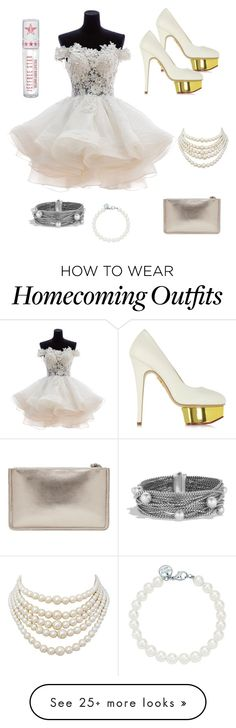 """Posh White"" by secretlygothic on Polyvore featuring Charlotte Olympia, Jeffree Star, Christian Dior, Tiffany & Co. and David Yurman"