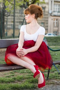 red dots Red Dots, Tutu, Piercing, Fashion Beauty, Hairstyle, Inspiration, Tattoo, Clothes, Hair Job