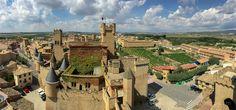 Vista panorámica desde lo alto del palacio real de Olite, Navarra