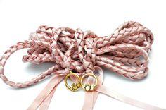 Quartz Celtic Claddagh  Wedding Handfasting Cord  by DivinityBraid