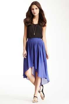 Hi-Lo Pleat Skirt by MM Couture on @HauteLook