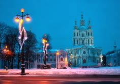 https://flic.kr/p/973aVa | Smolny Сathedral. The twilight. | CATHEDRAL OF THE RENEWAL OF THE JERUSALEM HOLY RESURRECTION TEMPLE, Smolny Сathedral, the Cathedral For All Educational Establishments, located at 1 Rastrelli Square. Monument of Baroque architecture. The cathedral was built in 1748-57 as the Cathedral of Smolny Monastery (architect F. Rastrelli); its interior decoration started in 1762 (architect Y.M. Felten; was not completed). (Encyclopaedia of Saint Petersburg…