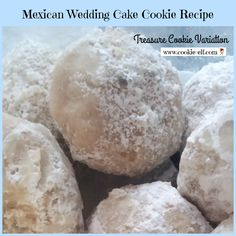 """Mexican Wedding Cake Cookie Recipe: Easy """"Treasure Cookies"""" Variation Mexican Wedding Cake Cookie Recipe: Treasure Cookies variation from The Cookie Elf Mexican Wedding Cake Cookies, Italian Wedding Cookies, Tea Cake Cookies, Mexican Cookies, Bar Cookies, Yummy Cookies, Cookie Bars, Easy Christmas Cookie Recipes, Easy Cookie Recipes"""