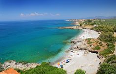 PANTAZI beach - Aerial Tourist Trap, Turquoise Water, Sandy Beaches, Greece Travel, Wonderful Places, Nature Photography, Places To Visit, Island, Explore