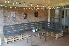Outdoor Pallet Sectional DIY. w/instruction