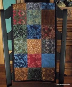Quilted Patchwork Table Runner Scrappy