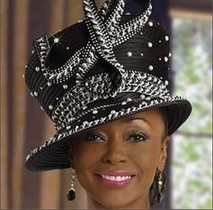 black hat for women | Photos / Black Women of the Church Smashing in Hats