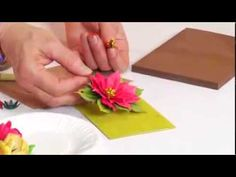 How to Use Sizzix thinlits Poinsettia Flower for Holiday Crafts - YouTube