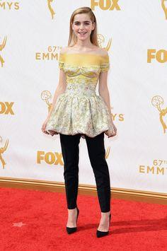 Kiernan Shipka in Dior at the 2015 Emmys