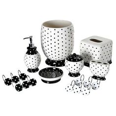Polka Dot Bathroom Accessory - for the pin up home