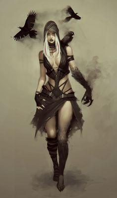 ArtStation - raven girl, Soufiane Idrassi