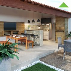 Outdoor Kitchen is one of the simplest ways to finish your yard to entertain and feed your family and mates. Under yow will discover on outdoor kitchen ideas as well as some suggestions that can make your patio stylish and enticing, take pleasure in! Rooftop Design, Terrace Design, Clearance Outdoor Furniture, Outdoor Patio Designs, Patio Ideas, Outdoor Kitchen Design, New Homes, Balcony Door, Da Nang