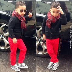 Little boy's style. This would be a nice fall outfit.
