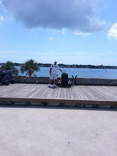 My hubby Allen at the Castillo San Marcos