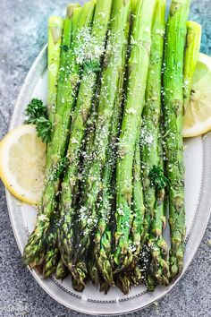 Lemon Parmesan Roasted Asparagus is the perfect quick & easy side dish for holidays or any weeknight. Best of all, this recipe needs just 5 minutes of prep.