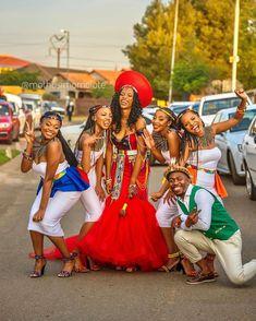 Zulu Traditional Wedding Dresses, Zulu Traditional Attire, African Fashion Traditional, Wedding Dresses South Africa, African Wedding Attire, African Attire, African Weddings, Plus Wedding Dresses, Party Dresses