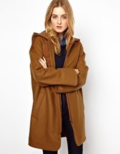 See By Chloe Hooded Coat with Fly Front