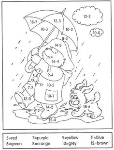 Subtraction Color by Number And Worksheet For Kids. Are you looking for subtraction materials for your child? See the various printable subtraction worksheets w Math Coloring Worksheets, Subtraction Worksheets, Number Worksheets, Kindergarten Worksheets, Worksheets For Kids, Math Activities, Printable Coloring, Math For Kids, Fun Math