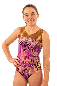 f69eaa251c Lizatards Leotard Sparkle Safari- Girls Gymnastics Leotard in Sparkle  Velvet and Copper Jewel   Visit the image link more details.