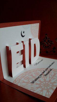 Pop Up Eid Card set of 3 includes van EccentricDesigns102 op Etsy