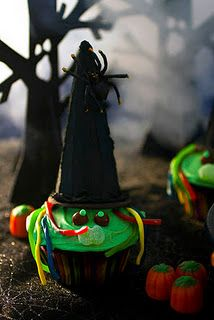 Wicked Witch Cupcakes! So cute.