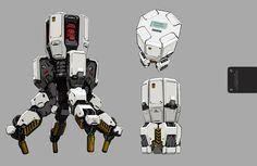 concept robots: Robot art by rd7