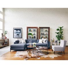 Four Hands Grammercy Upholstered 2 Piece Left Facing Sectional Set - UATR-001-BCH
