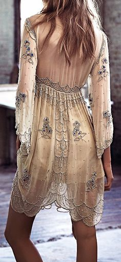 Ideas for dress casual boho bohemian style free people Looks Chic, Looks Style, My Style, Feminine Mode, Mode Glamour, Look Fashion, Womens Fashion, Retro Fashion, Lolita Fashion