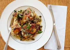 "Braised Chicken with Capers and Parsley | Recipes called ""Braised"" never entice me but I trust Bon Appetit!"