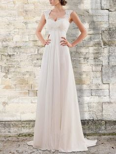Wedding Dress Train, Wedding Dress Chiffon, Cheap Wedding Dress, Designer Wedding Dresses, Chiffon Ruffle, Summer Wedding Dresses, Chiffon Dresses, Summer Weddings, Elegant Prom Dresses