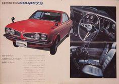 1970 ホンダ1300クーペ Retro Cars, Vintage Cars, Antique Cars, Classic Japanese Cars, Classic Cars, Vintage Japanese, Japanese Domestic Market, Honda Motors, Car Brochure