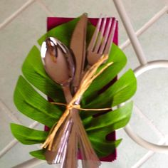 Hawaiian themed place settings | Hawaiian themed Silverware