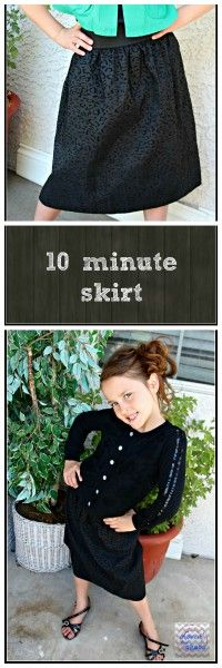10 minute Skirt with
