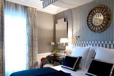PARIS - PLACE ST SULPICE : HÔTEL RÉCAMIER   PARIS - PLACE ST SULPICE: HÔTEL RÉCAMIER Jean Louis Deniot  bedroom bed valance brunschwig les touches drapery fabric