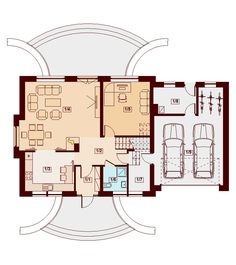 DOM.PL™ - Projekt domu DN KARMELITA GOLD 2M CE - DOM PC1-56 - gotowy koszt budowy Malm, Modernism, Planer, House Plans, Floor Plans, House Design, How To Plan, Home Decor, Irish