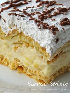 Romanian Desserts, Vanilla Cake, Sweet Treats, Dessert Recipes, Food And Drink, Yummy Food, Sweets, Homemade, Cookies