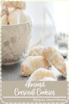 Almond Crescent Cookies Recipes Almond Crescent Cookies, almond, pecan or walnut these melt in your mouth Christmas Cookie Recipe are a must make. Baking Recipes, Cookie Recipes, Dessert Recipes, Desserts, Cookie Ideas, Dessert Ideas, Soup Recipes, Best Christmas Cookies, Holiday Cookies
