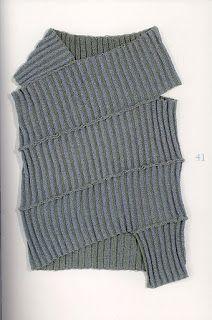 pull en récup mailles côte au crochet