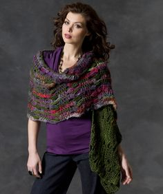 Musical Shells Shawl free crochet pattern