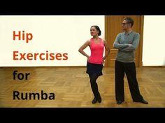 Body Center Exercises for Latin Dances / Rumba - YouTube