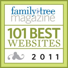 A list of the top genealogy websites in 2011 as rated by Family Tree Magazine.  The best part is they have links to each site for immediate access. A great place to get started in genealogy.