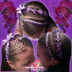 Ribbon Hairstyle, American Hairstyles, Braids For Kids, 49er, Toddler Hair, Little Girl Hairstyles, Hair Hacks, Diana, Little Girls