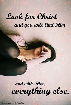 Look for Christ...