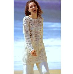 Vintage Crochet Pattern   Tunic Sweater Long Line Summer Cotton Jumper  INSTANT DOWNLOAD PD by PastPerfectPatterns on Etsy https://www.etsy.com/listing/457926092/vintage-crochet-pattern-tunic-sweater