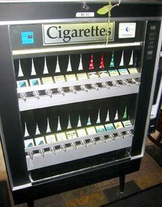 Cigarette Machine  No didn't smoke~but this is how u could get them!